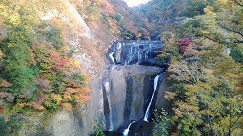 Mùa thu Nhật Bản trên thác Fukuroda, Ibarakia
